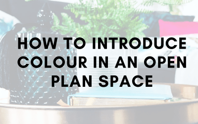 How to introduce colour into an open plan space
