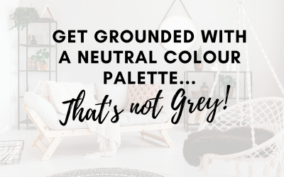 Get grounded with a neutral colour palette… that's not grey!